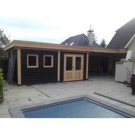 Douglas schuur met veranda Tuil 886