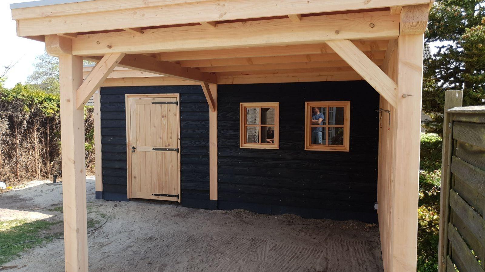 Douglas berging met veranda L-vorm Katwijk 919