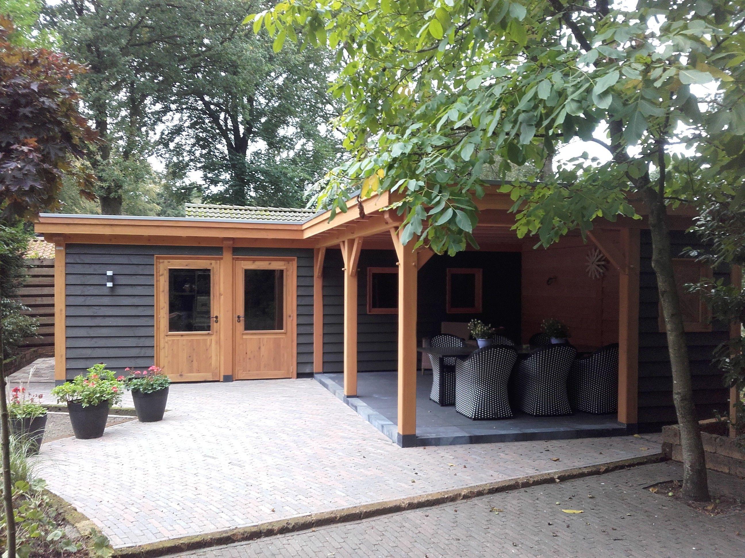 Houtbouw op maat douglas veranda zadeldak amerongen for Offerte veranda
